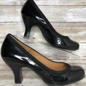 Sofft 8M Black Patent Leather Classic Dress Pumps